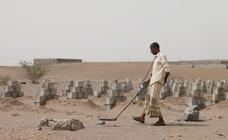 Desactivando minas en Yemen