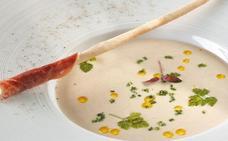 Receta de sopa de jamón y queso de Martín Berasategui