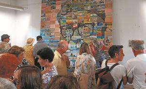 Inaugurado un gran mural en homenaje al pintor 'Mendi'
