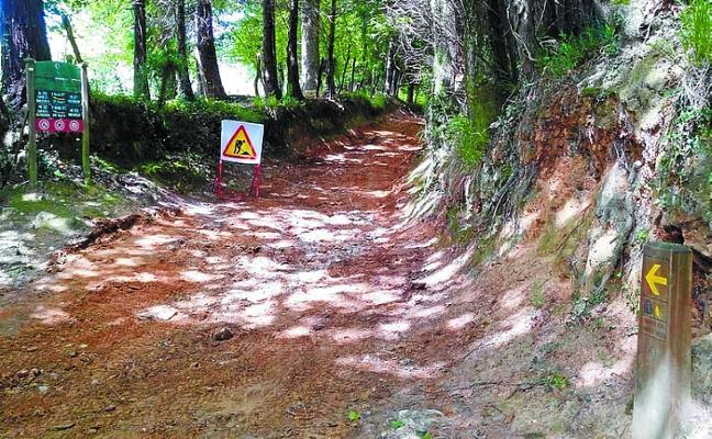 Arreglos en un tramo del Camino de Santiago