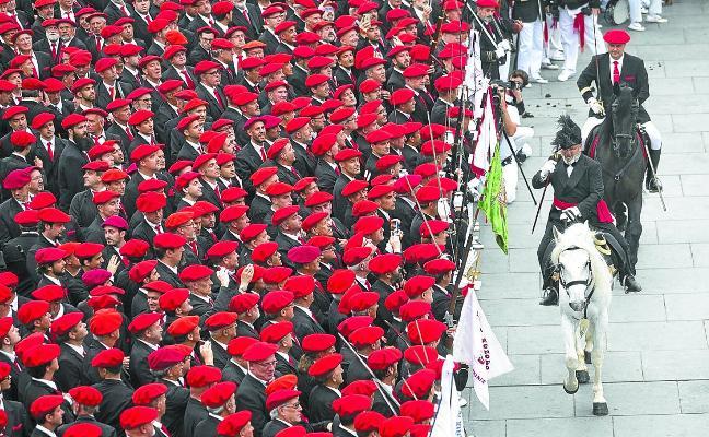 El Alarde tradicional valora de manera «muy satisfactoria» el día de San Marcial