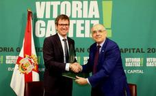 Hirian euskararen erabilera sustatzeko 63.000 euroko ekarpena egingo dio Euskaltzaindiari Gasteizko Udalak