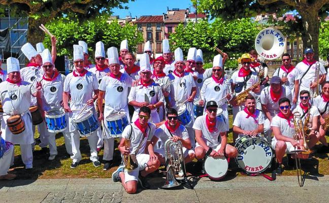 Tambores y barriles, en Pamplona