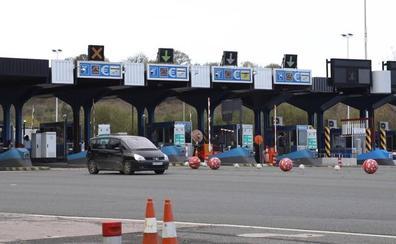 La salida de Irun Ventas de la AP-8 se cerrará la madrugada del viernes para asfaltar el peaje