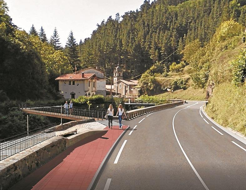 La Diputación asegura que las obras de la vía peatonal en Aizpurutxo empezarán en 2020