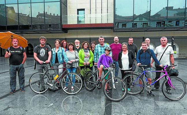 Sare de Lasarte-Oria se une a la marcha ciclista reivindicativa