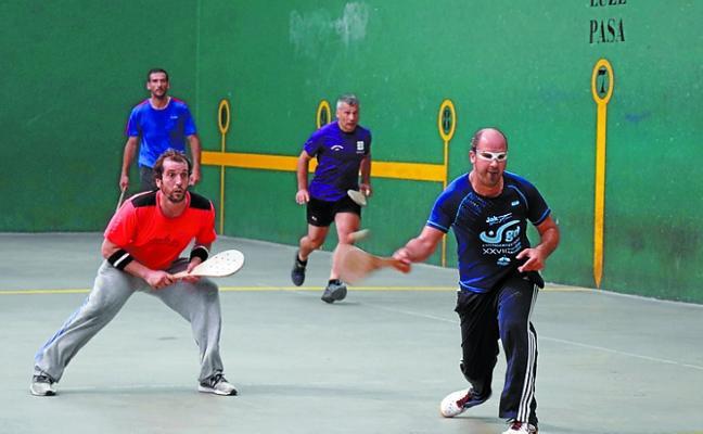 Pagola y Astiazaran jugarán la final del Torneo de Pala de Santa Ana contra Iparragirre y Arteaga