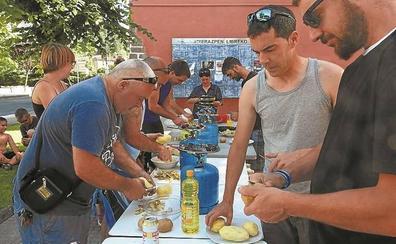 Comida popular en Portasoleko jaiak