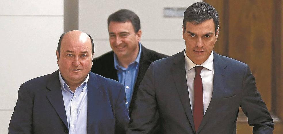 El PNV fía su apoyo a Sánchez a que un pacto con Podemos no frene sus compromisos
