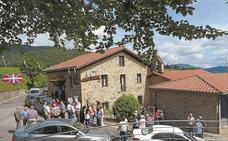 Última traca de las fiestas de Santa Marina en Aztiria