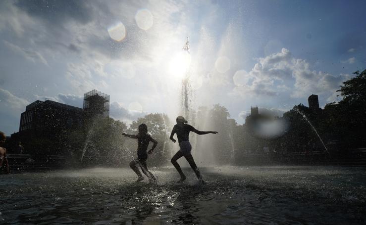 La fuente de Manhattan una piscina para los más pequeños
