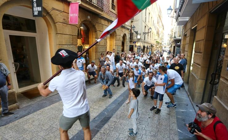Donostiarra celebra su victoria en Getxo