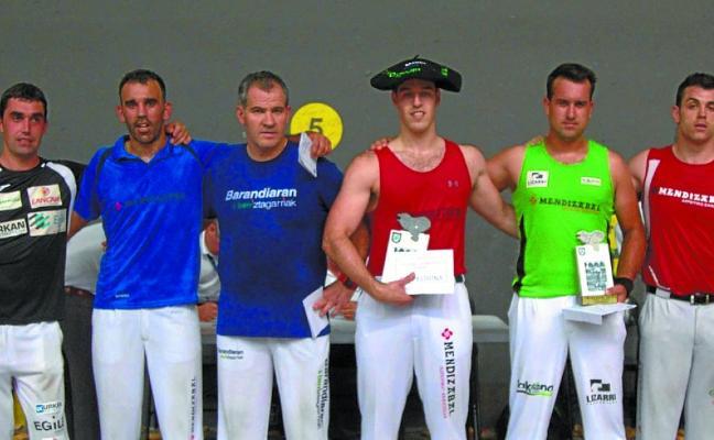 Txikia IV, nuevo campeón de Gipuzkoa de aizkolaris
