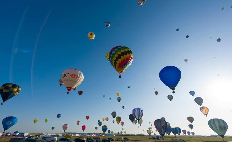 Los globos no pudieron con el récord mundial