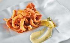 Receta de calamares fritos en tempura de Martín Berasategui