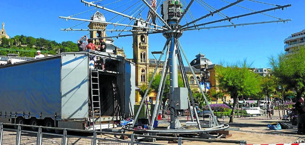La noria obligará a desmontar el carrusel de Alderdi Eder durante Semana Grande