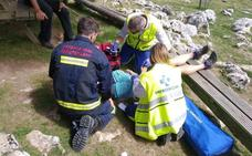 Rescatada en helicóptero una mujer de 45 años tras sufrir una caída en Oñati