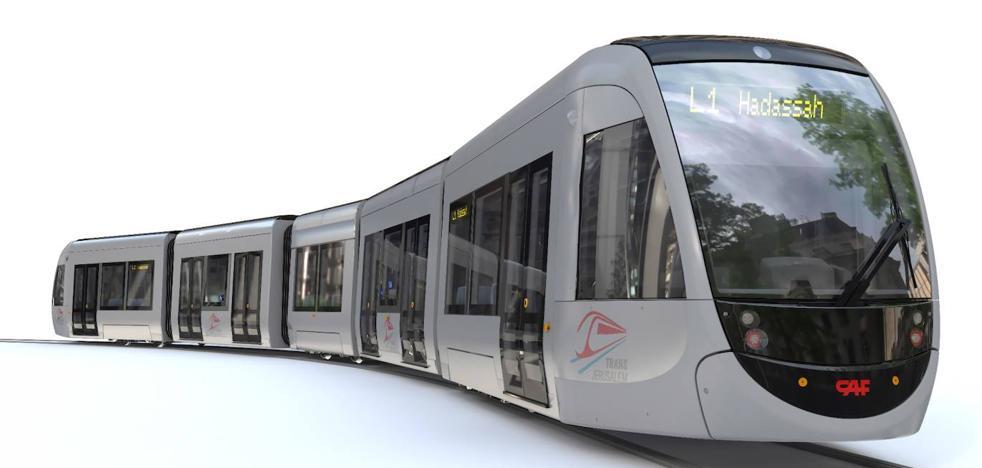 CAF suma 500 millones a su cartera récord de pedidos con el encargo del tranvía de Jerusalén