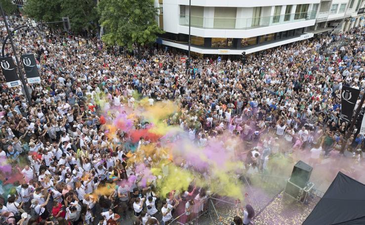 Fiesta hindú en la Semana Grande de San Sebastián