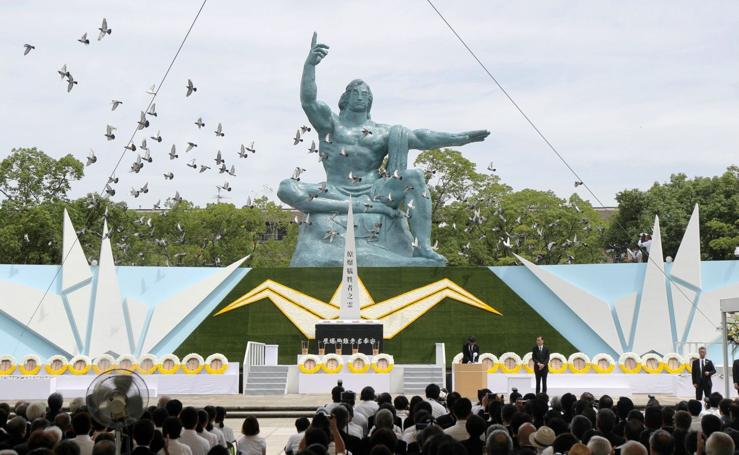 74 aniversario de la bomba atómica en Nagasaki