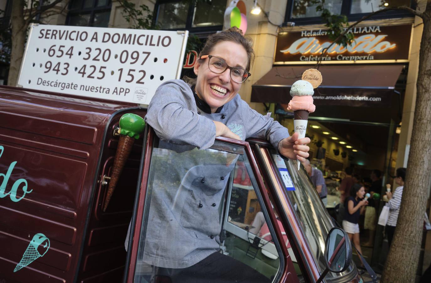 Marta Alustiza Arnoldo: «Hay clientes que se nos enfadan si retiramos su helado de siempre»