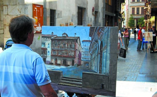 El eibarrés Esteban Oroz gana el concurso de pintura al aire libre de Hondarribia