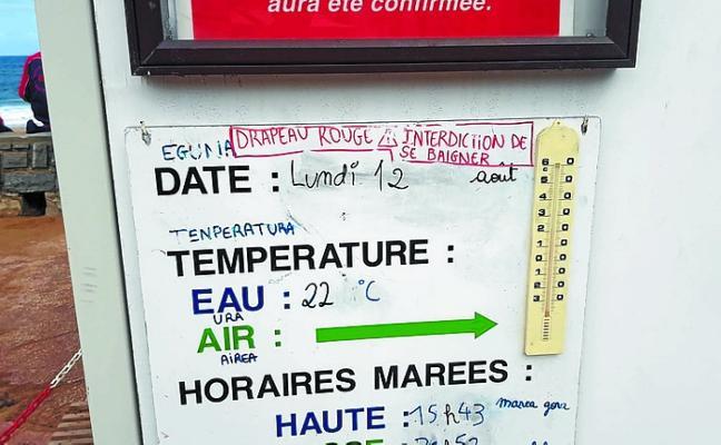 Cierran al baño en una docena de playas desde Biarritz a Hendaia