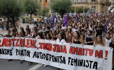 Manifestación en contra de las agresiones sexistas en San Sebastián