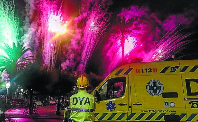Fuegos artificiales no exentos de riesgo
