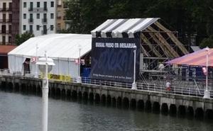 Vox denuncia ante el juez la aparición de pancartas a favor de ETA en las fiestas de Bilbao