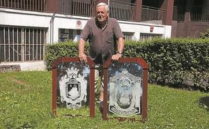 Celestino Rivera y sus nuevos escudos