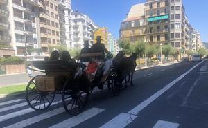Un coche de caballos por San Martín
