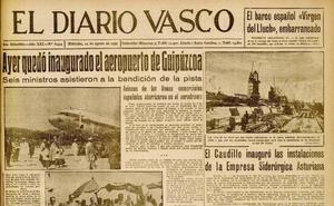 1955 | Campanas y cohetes para recibir al aeropuerto