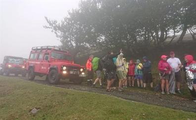 Auxiliados 20 peregrinos irlandenses exhaustos y con síntomas de hipotermia en Navarra