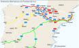 Gráfico: Itinerarios alternativos a la frontera en Irun