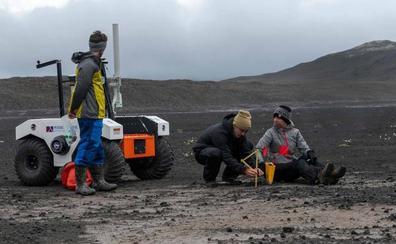 La NASA se prepara para Marte en un campo de lava de Islandia