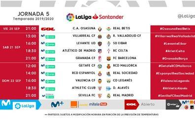 LaLiga anuncia tres jornadas sin lunes pero con partidos al mediodía
