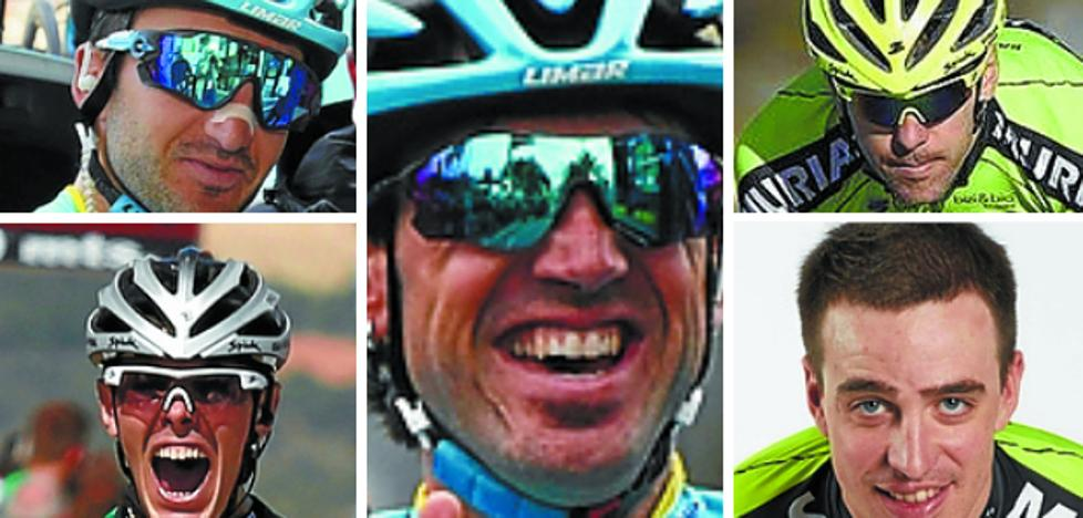 Todos los oficios del ciclista en cinco corredores