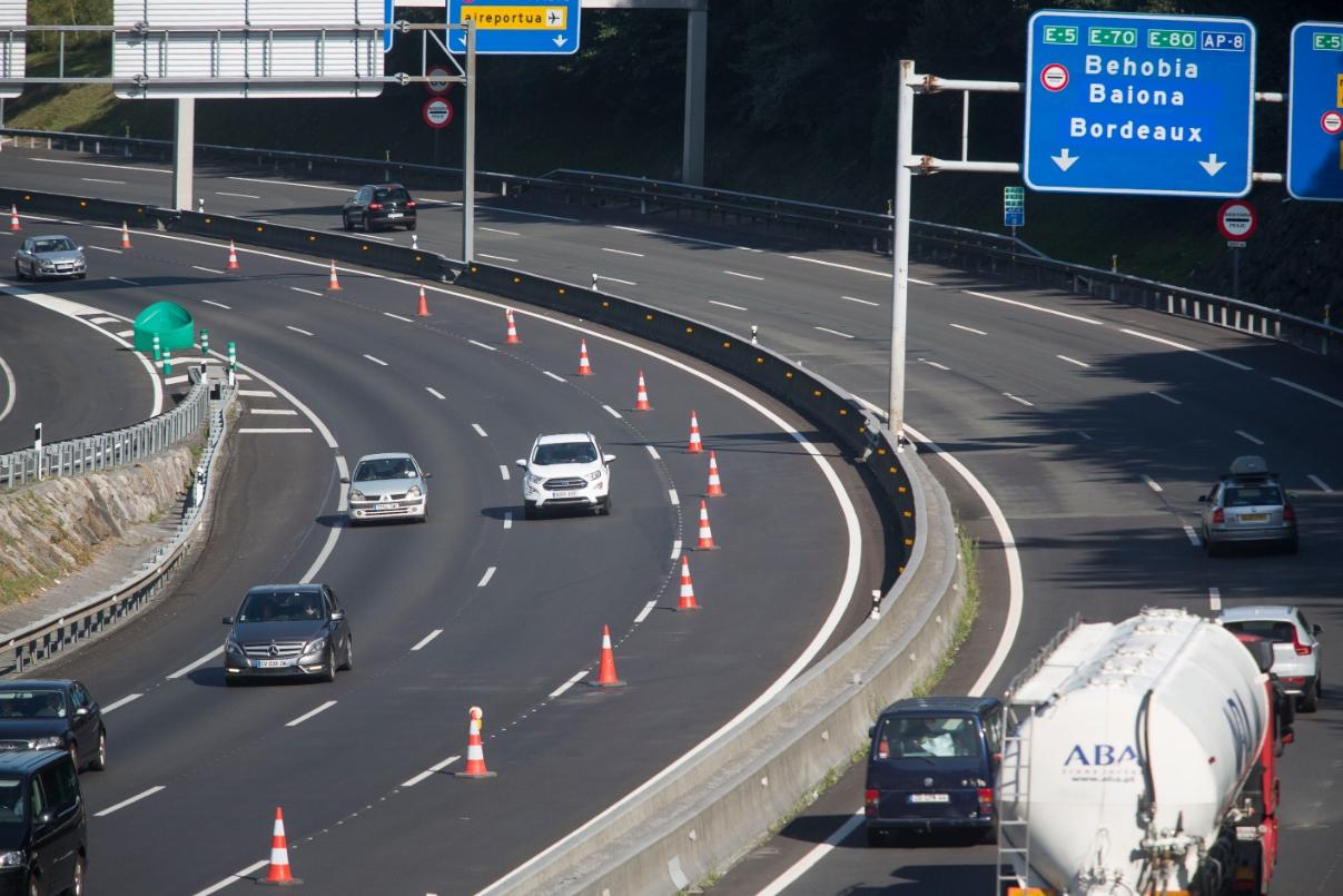Normalidad en las carreteras guipuzcoanas en las horas previas al comienzo de la cumbre del G-7