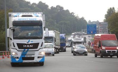 Un 25% menos de vehículos cruzó la frontera por Biriatou el fin de semana