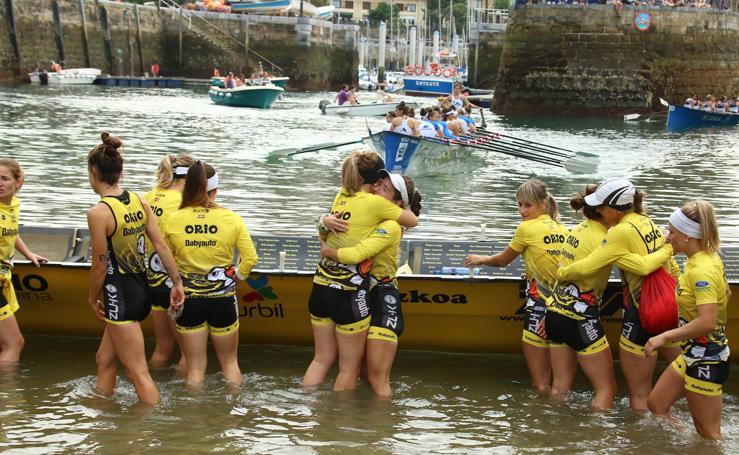 Orio marca el mejor tiempo en la regata femenina