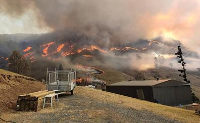 Los bomberos de Australia luchan para controlar y extinguir más de 100 incendios forestales