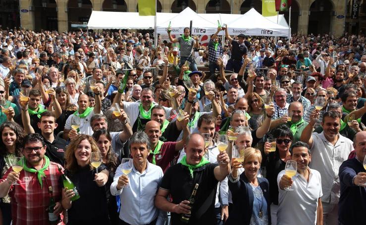 Éxito del Sagardo Eguna en Donostia