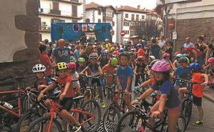 Aniz y Urdax, cita de las escuelas de ciclismo