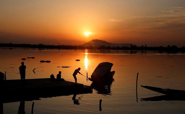 Las asombrosas vistas del lago Dal