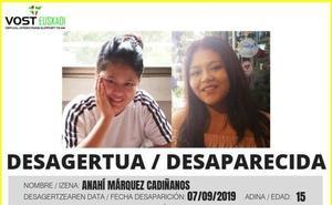 Buscan a una niña de 15 años desaparecida el sábado en Vitoria
