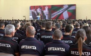 Antes de final de año se convocará la 29 promoción de la Ertzaintza, con un mínimo de 500 plazas