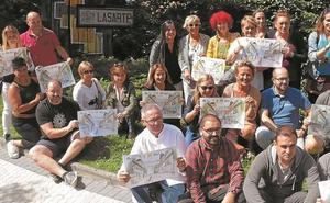 'Sin comercio no hay vida', lema de la campaña de concienciación de Aterpea en Lasarte-Oria