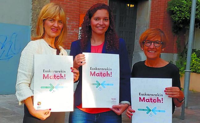 El Euskaltegi Municipal anima a «hacer 'match' con el euskera»