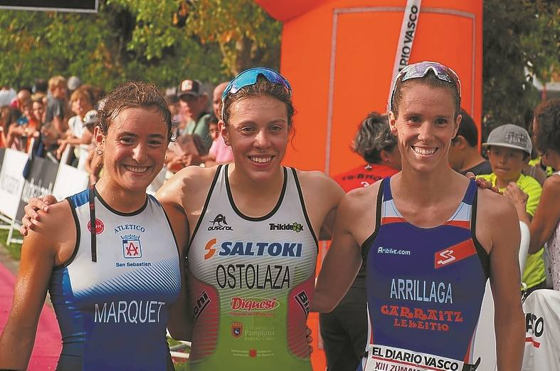 Usoa Ostolaza y Pello Osoro, vencedores del XIII Triatlón Sprint